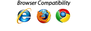 Compatible with Firefox, Chrome and Internet Explorer